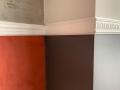 Sockelleiste zur Abgrenzung der Wandfläche hergestellt
